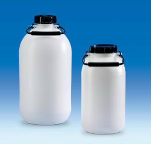 Storage bottles, wide/narrow neck, HDPE