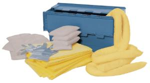 Spill kits, special absorbents in mobile box