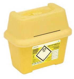 Kanülenabwurfbehälter für infektiöse Abfälle, Sharpsafe®