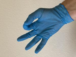 Gloves, nitrile extra light blue