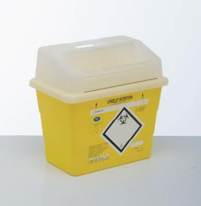 Abfallbehälter zur Sammlung von scharfen, gefährlichen und infektiösen Abfällen, Sharpsafe®